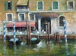 Venezia in Tonalita Verde by Paolo Fedeli -  sized 32x24 inches. Available from Whitewall Galleries