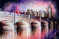 The Big Smoke by Samantha Ellis -  sized 60x40 inches. Available from Whitewall Galleries