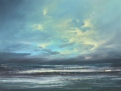 Blue Beyond IV by Philip Raskin -  sized 24x18 inches. Available from Whitewall Galleries