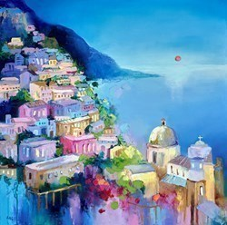 Amalfi Panorama by Anna Gammans -  sized 20x20 inches. Available from Whitewall Galleries