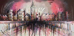 City Life II by Samantha Ellis -  sized 48x24 inches. Available from Whitewall Galleries