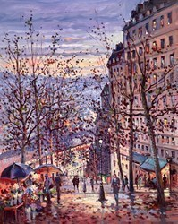 Dusk, Montmartre  by Henderson Cisz -  sized 24x30 inches. Available from Whitewall Galleries