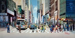 Crosswalk Conversation by Torabi -  sized 59x30 inches. Available from Whitewall Galleries
