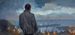 After the Storm (Study) by Kevin Day -  sized 16x8 inches. Available from Whitewall Galleries