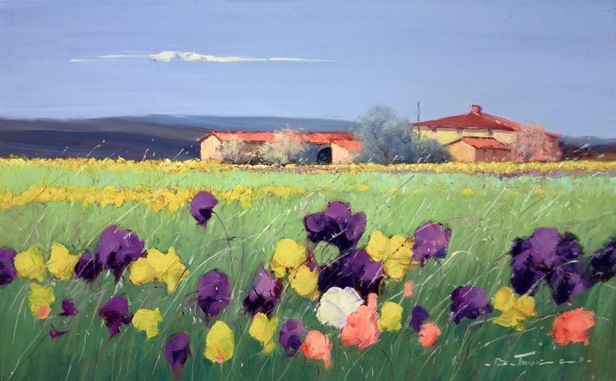 Fiore Viola E Giallo I