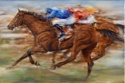 Sport of Kings by Gary Benfield -  sized 48x32 inches. Available from Whitewall Galleries