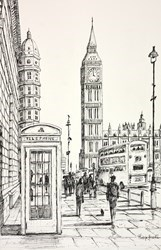 Iconic London by Phillip Bissell -  sized 11x17 inches. Available from Whitewall Galleries