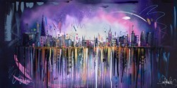 London Skyline IV by Samantha Ellis -  sized 48x24 inches. Available from Whitewall Galleries