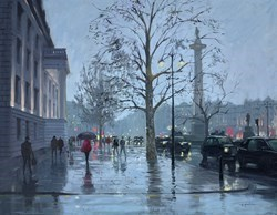 Trafalgar Square Reflections by Charles Rowbotham -  sized 32x24 inches. Available from Whitewall Galleries