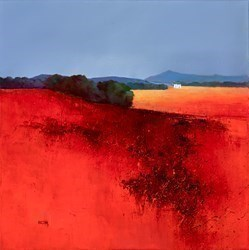 Distant Mountains by Barry Hilton -  sized 20x20 inches. Available from Whitewall Galleries