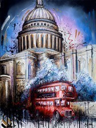 Living the London Life II by Samantha Ellis -  sized 30x40 inches. Available from Whitewall Galleries
