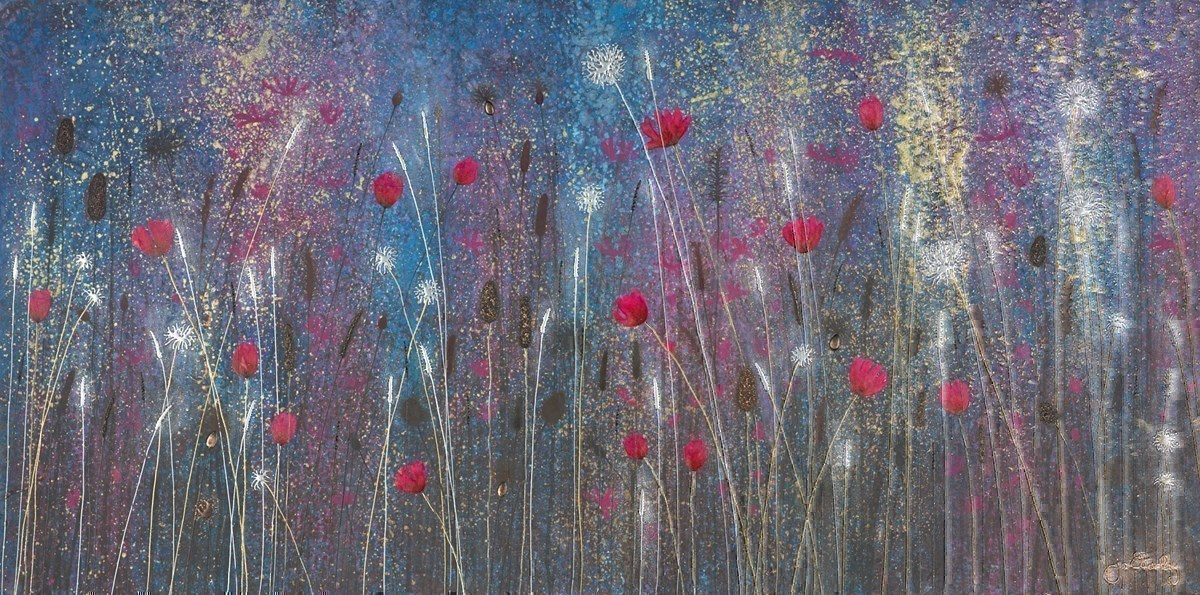 Heavenly Skies by Jo Starkey -  sized 48x24 inches. Available from Whitewall Galleries