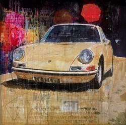 Yellow 911 by Markus Haub -  sized 47x47 inches. Available from Whitewall Galleries