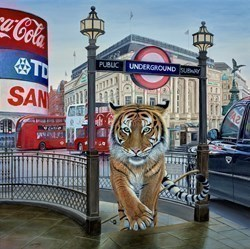 Going Underground by Steve Tandy -  sized 30x30 inches. Available from Whitewall Galleries