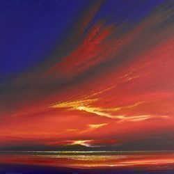 Oriental Sunset VI by Jonathan Shaw -  sized 24x24 inches. Available from Whitewall Galleries