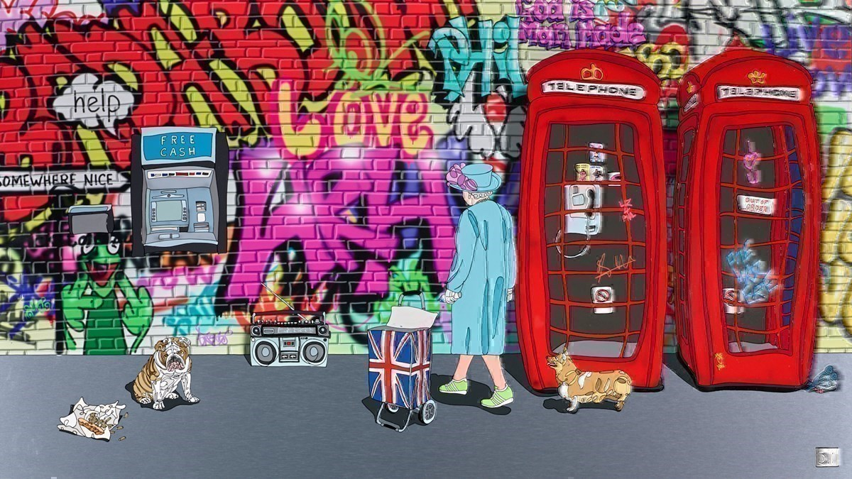Queen, Two Phones, Cash and Chips by Dylan Izaak -