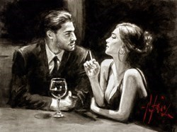 El Verso IV by Fabian Perez -  sized 16x12 inches. Available from Whitewall Galleries