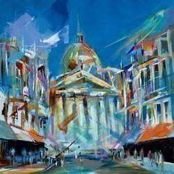 City Profile by Marijus Jusionis -  sized 32x32 inches. Available from Whitewall Galleries