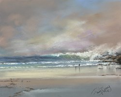 Against the Rocks II by Philip Gray -  sized 12x10 inches. Available from Whitewall Galleries