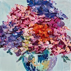 Pretty Arrangement by Maya Eventov - Original Painting on Stretched Canvas sized 12x12 inches. Available from Whitewall Galleries