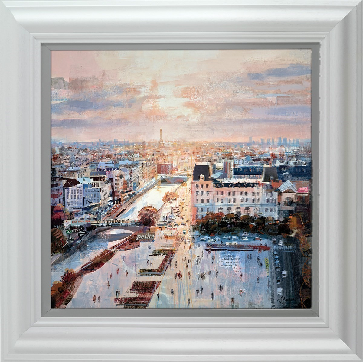 Rooftop Reverie by Tom Butler - Limited Edition on Paper sized 16x16 inches. Available from Whitewall Galleries