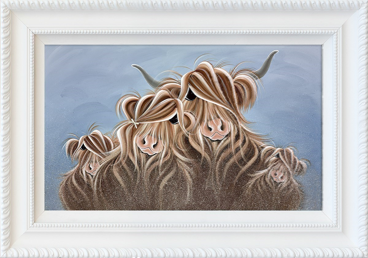 My Herd by Jennifer Hogwood - Hand Finished Limited Edition on Canvas sized 18x30 inches. Available from Whitewall Galleries