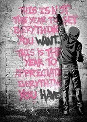 Open Your Mind (Pink) by Mr Brainwash - Limited Edition on Paper sized 20x32 inches. Available from Whitewall Galleries