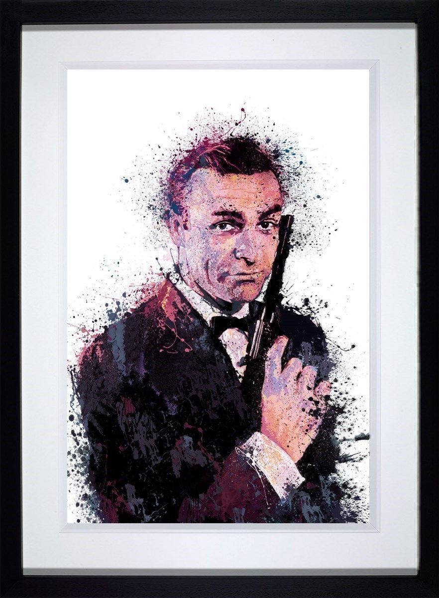 007- With Love by Daniel Mernagh - Framed Limited Edition on Paper