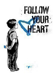 Follow Your Heart - Blue (paper) by Mr Brainwash - Limited Edition on Paper sized 22x30 inches. Available from Whitewall Galleries