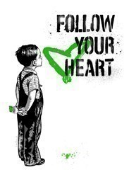 Follow Your Heart - Green by Mr Brainwash - Limited Edition on Paper sized 22x30 inches. Available from Whitewall Galleries