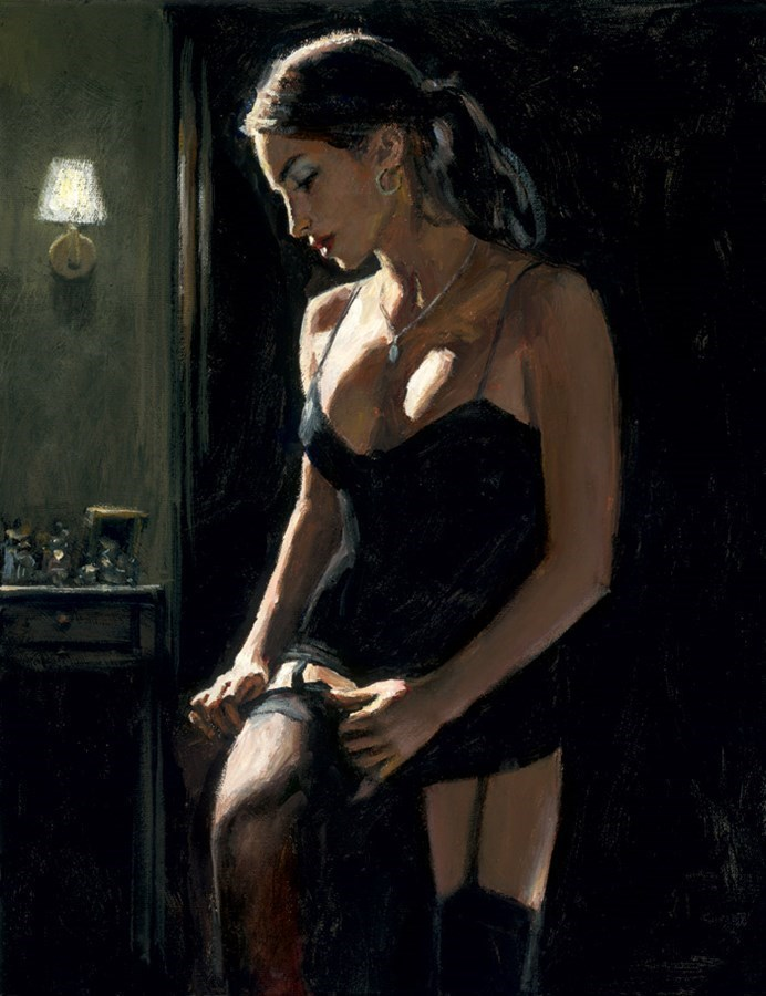 Image: Analucia III by Fabian Perez | Limited Edition Canvas on Board