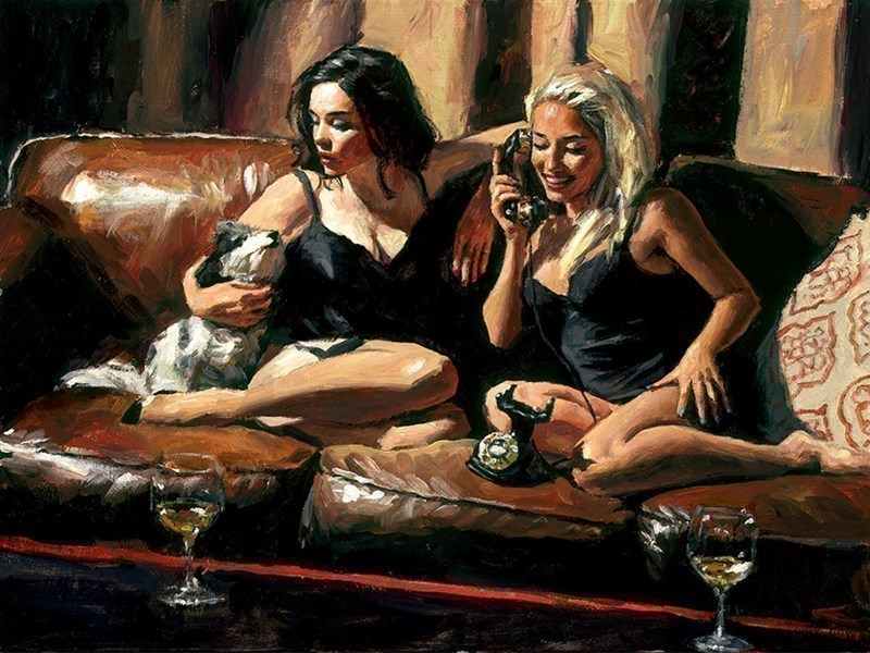Image: Eugie and Geo II by Fabian Perez | Limited Edition on Canvas