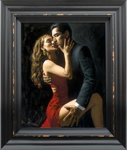 Image: Tango en San Telmo III by Fabian Perez | Hand Finished Limited Edition on Canvas