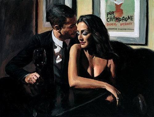 Image: Proposal at Hotel Du Vin by Fabian Perez | Hand Finished Limited Edition on Canvas