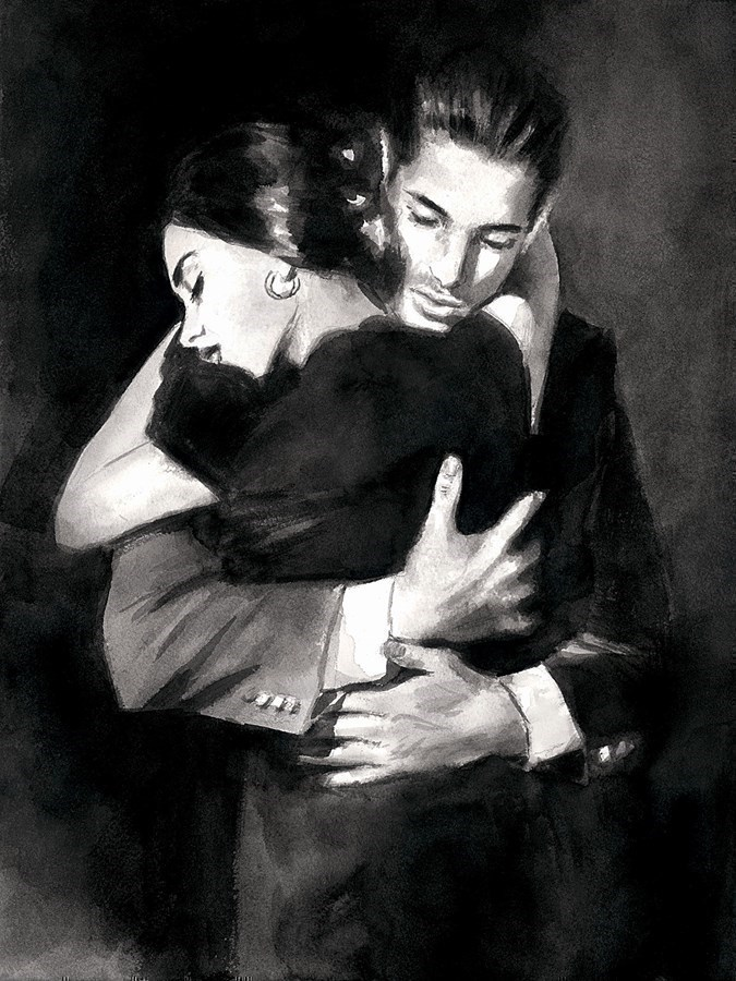 Image: The Embrace II by Fabian Perez   Limited Edition on Paper