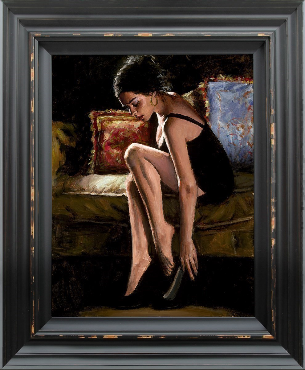 Blue and Red III by Fabian Perez - Hand Finished Limited Edition on Canvas sized 14x18 inches. Available from Whitewall Galleries