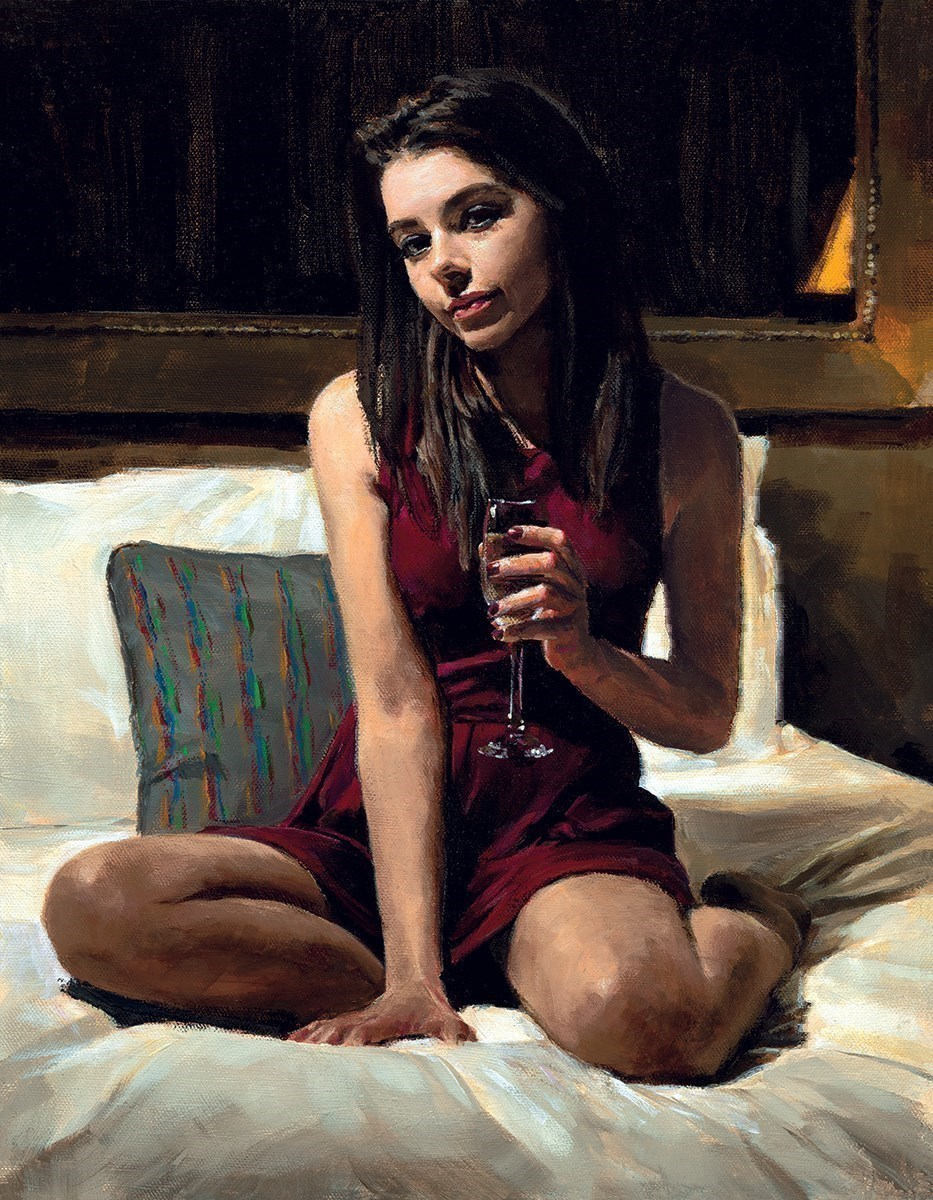 Bella by Fabian Perez - Embelished Canvas on Board