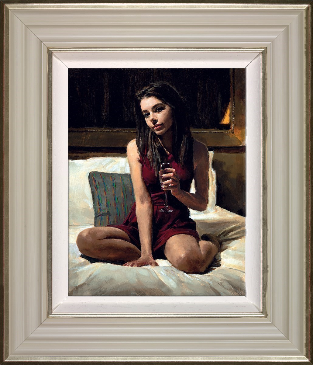 Bella by Fabian Perez - Framed Embelished Canvas on Board