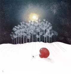Winter Frost by Mackenzie Thorpe - Limited Edition on Paper sized 18x19 inches. Available from Whitewall Galleries