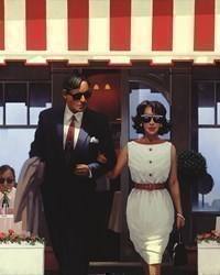 Lunchtime Lovers by Jack Vettriano - Limited Edition on Paper sized 13x15 inches. Available from Whitewall Galleries