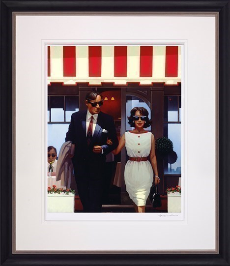 Lunchtime Lovers by Jack Vettriano - Framed Limited Edition on Paper