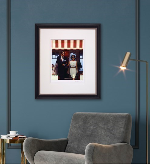 Lunchtime Lovers by Jack Vettriano - Limited Edition on Paper wall setting