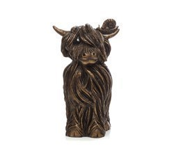 Finlay McMoo by Jennifer Hogwood - Cold Cast Bronze sized 4x7 inches. Available from Whitewall Galleries