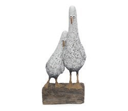 Home Birds by Rebecca Lardner - Cold Cast Porcelain sized 17x8 inches. Available from Whitewall Galleries