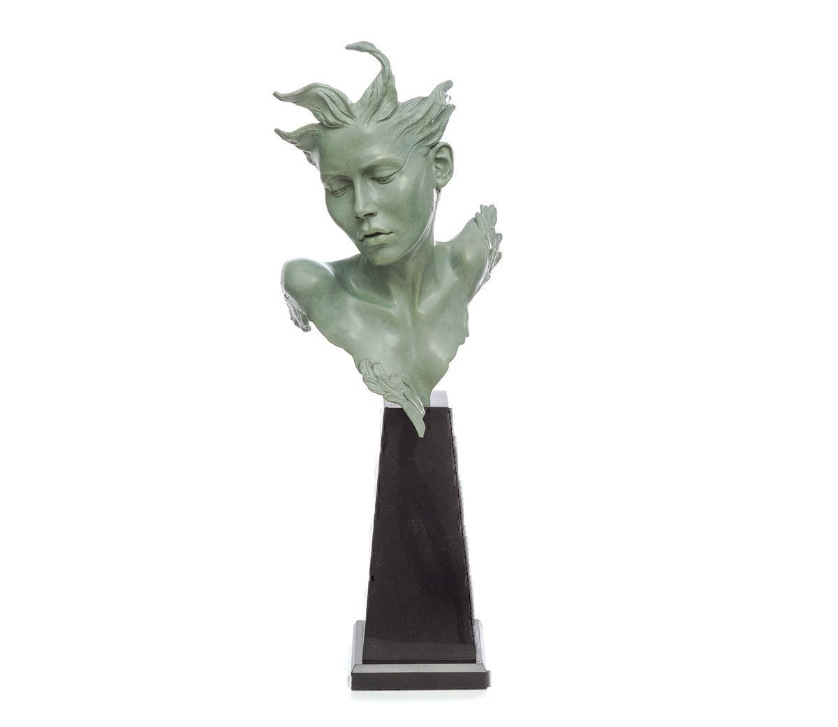 Odile by Carl Payne - Bronze Sculpture sized 7x20 inches. Available from Whitewall Galleries