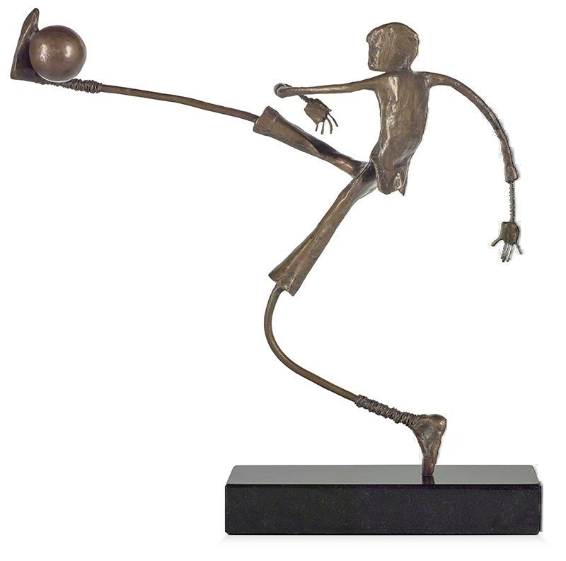 Go For Goal by Ed Rust - Bronze Sculpture sized 14x13 inches. Available from Whitewall Galleries