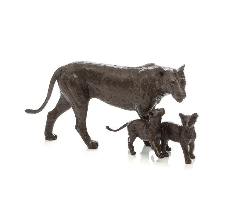Cub Scouts by Michael Simpson - Bronze Sculpture sized 12x6 inches. Available from Whitewall Galleries