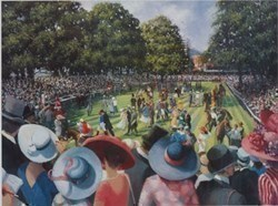 Ladies day royal ascot by Sherree Valentine Daines -  sized 18x14 inches. Available from Whitewall Galleries