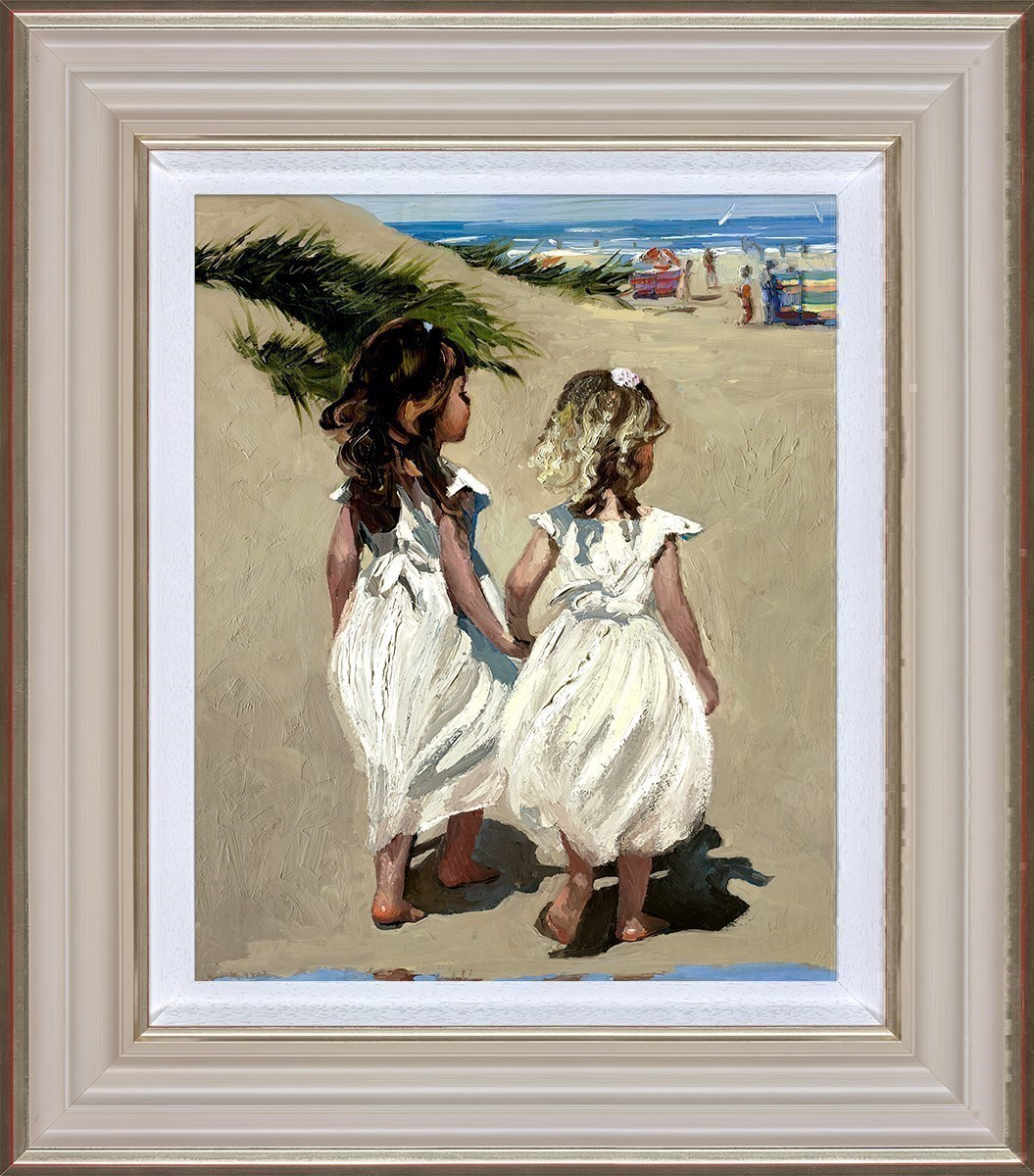 Beach Babies by Sherree Valentine Daines - Canvas on Board sized 12x14 inches. Available from Whitewall Galleries