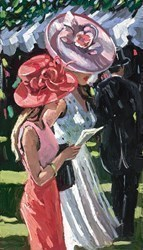 Society Ladies by Sherree Valentine Daines - Limited Edition Canvas on Board sized 10x17 inches. Available from Whitewall Galleries